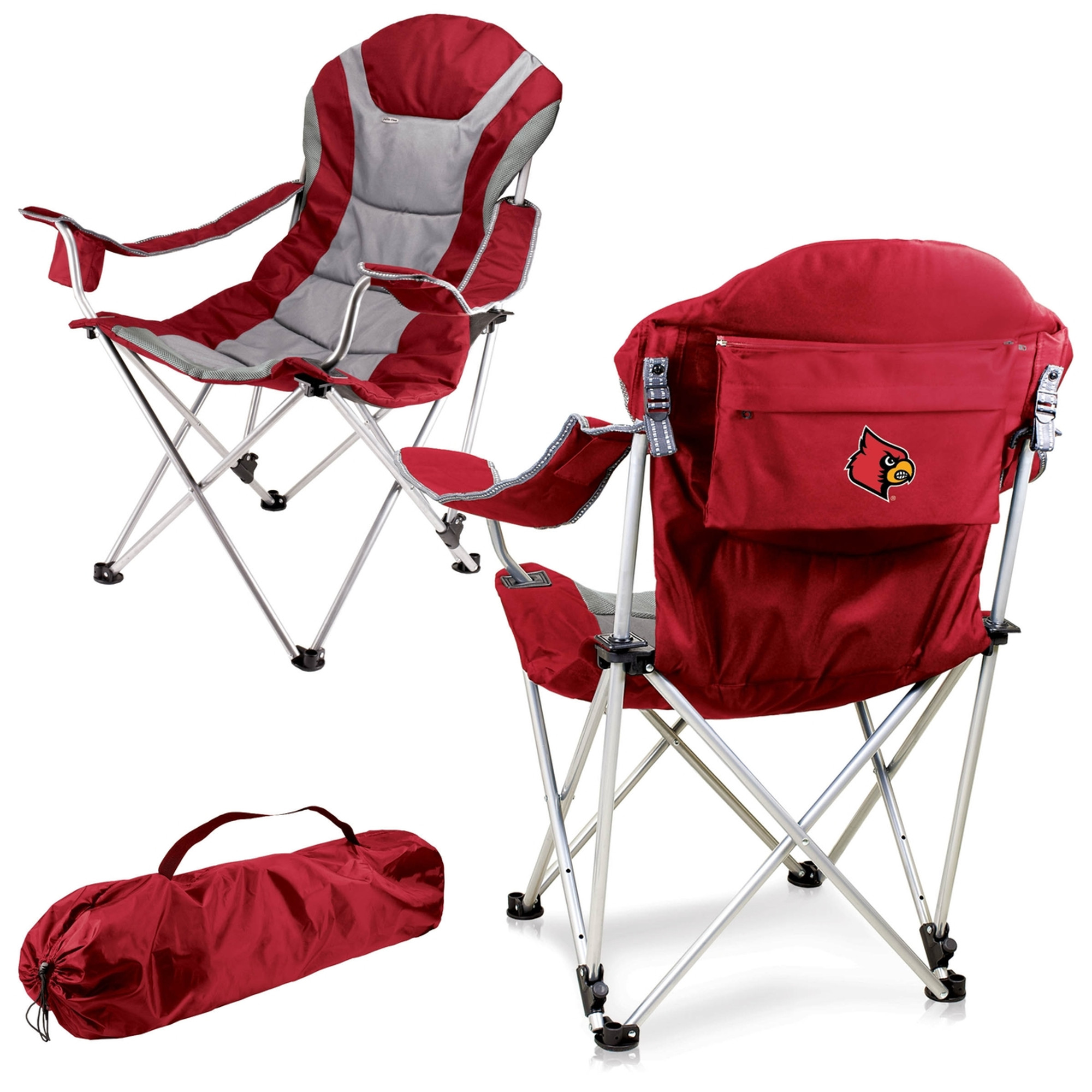 ... Louisville Cardinals Reclining Camp Chair | Picnic Time | 803 00 100 304