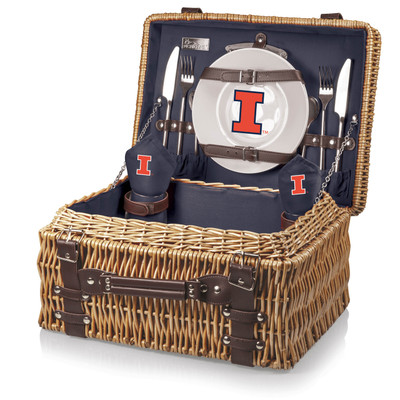 Illinois Fighting Illini Champion Picnic Basket