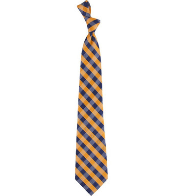 Illinois Fighting Illini Woven Poly Check Tie | Eagles Wings | 6227