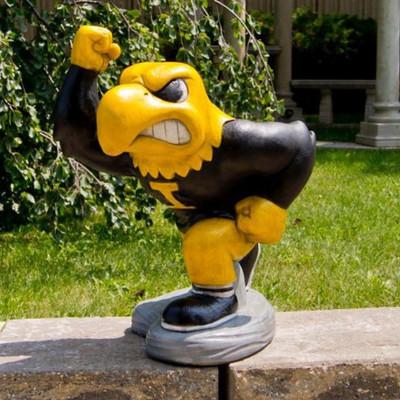 Iowa Hawkeyes Mascot Garden Statue