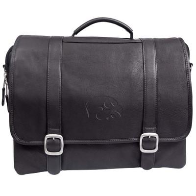 Iowa Hawkeyes Cross Body Leather Laptop Briefcase