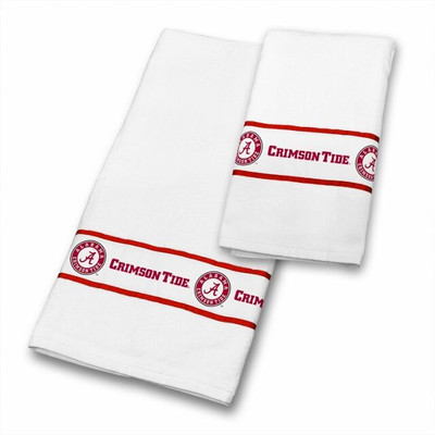 Alabama Crimson Tide Bath Towel Set | Sports Coverage | 04CTTWS4ALUSETS