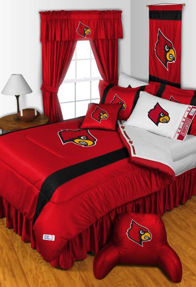 Louisville Cardinals Comforter Set | Sports Coverage | 04JSCOM4LOUSET