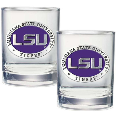 LSU Tigers Cocktail Glasses | Heritage Pewter | DOF10121E