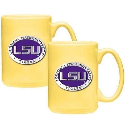 LSU Tigers Coffee Mug Set of 2 | Heritage Pewter | CM10121E