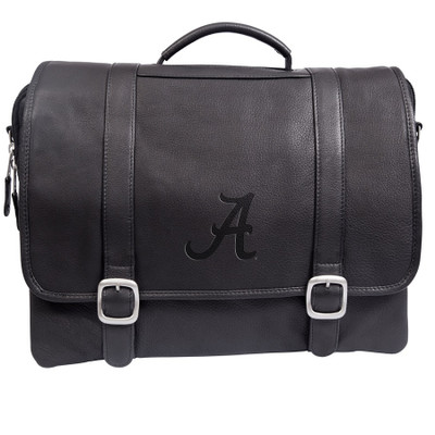 Alabama Crimson Tide Cross Body Leather Laptop Briefcase