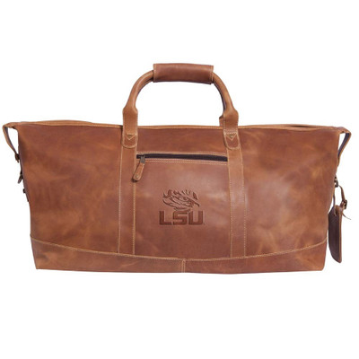 LSU Tigers Leather Duffel Bag | Canyon Outback | CS300LSU