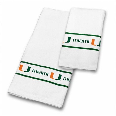 Miami Hurricanes Bath Towel Set