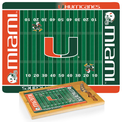 Miami Hurricanes Icon Cheese Tray