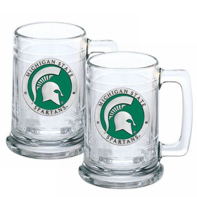 MSU Spartans Beer Mug Set of Two
