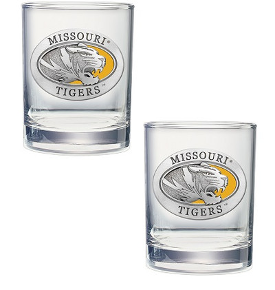 Missouri Tigers Cocktail Glasses