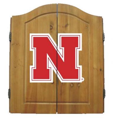 Nebraska Huskers Dart Board Cabinet