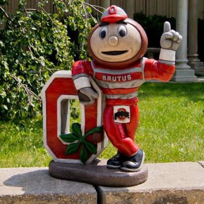 Ohio State Buckeyes Mascot Garden Statue