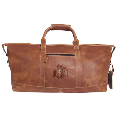 Ohio State Buckeyes Leather Duffel Bag