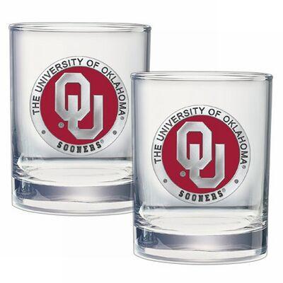 Oklahoma Sooners Cocktail Glasses | Heritage Pewter | DOF10194E