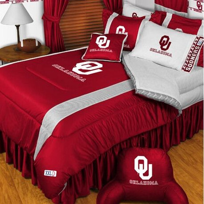 Oklahoma Sooners Comforter Set | Sports Coverage | 04JSCOM4OKUSET