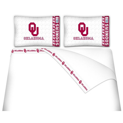 Oklahoma Sooners Microfiber Sheet Set