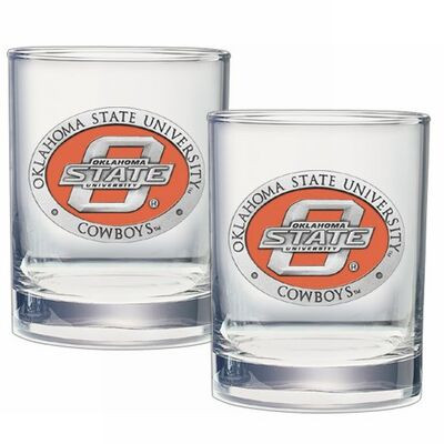 Oklahoma State Cowboys Cocktail Glasses