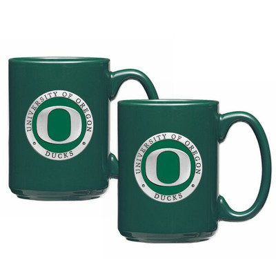 Oregon Ducks Coffee Mug Set of Two