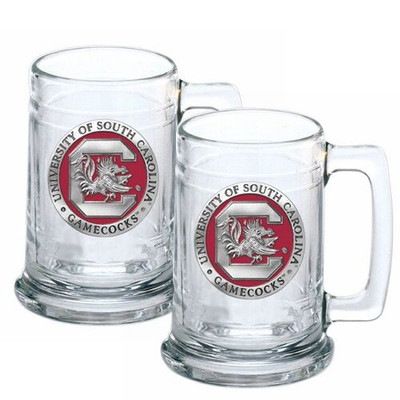 South Carolina Gamecocks Beer Mug Set of Two