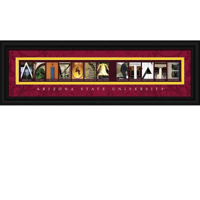Arizona State Sun Devils Campus Letter Art Print