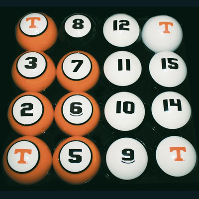 Tennessee Volunteers Billiard Pool Ball Set