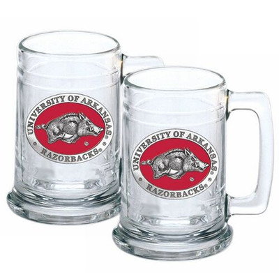 Arkansas Razorbacks Beer Mug Set of Two