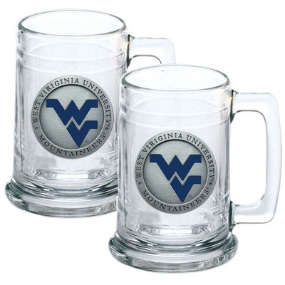 West Virginia Mountaineers Beer Mug Set of Two