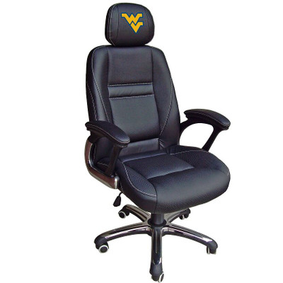 West Virginia Mountaineers Leather Office Chair
