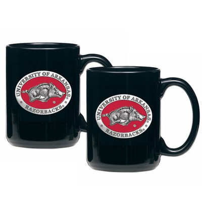 Arkansas Razorbacks Coffee Mug Set of 2