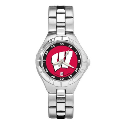 Wisconsin Badgers Women's Chrome Alloy Watch