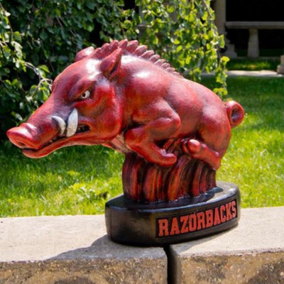 Arkansas Razorbacks Mascot Garden Statue