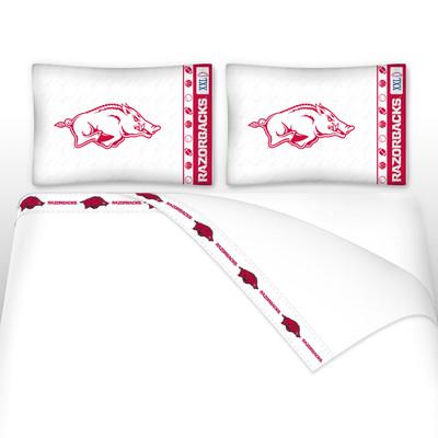 Arkansas Razorbacks Microfiber Sheet Set
