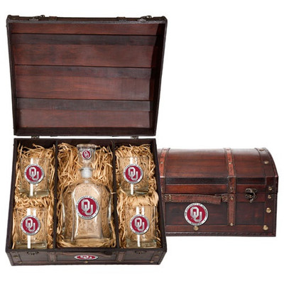 Oklahoma Sooners Capitol Decanter Chest Set
