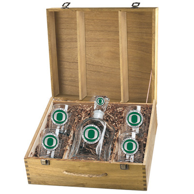 Oregon Ducks Decanter Box Set