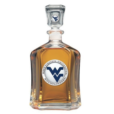 West Virginia Mountaineers Capitol Decanter
