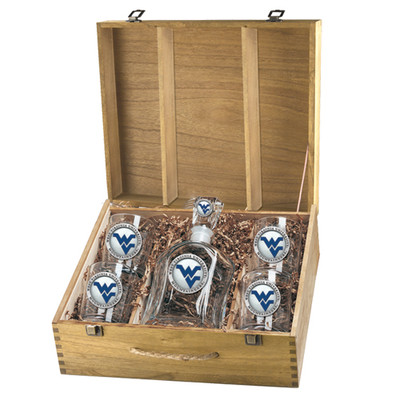 West Virginia Mountaineers Decanter Box Set