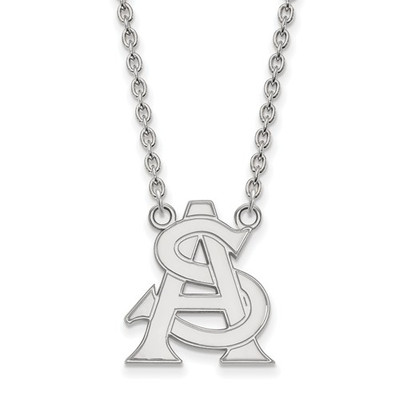 Arizona State Logo Sterling Silver Pendant Necklace