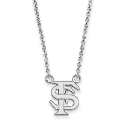 FSU Logo Sterling Silver Pendant Necklace