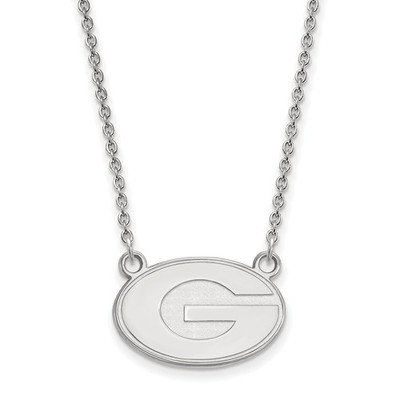 Georgia Bulldogs Sterling Silver Necklace | Logo Art | SS015UGA-18