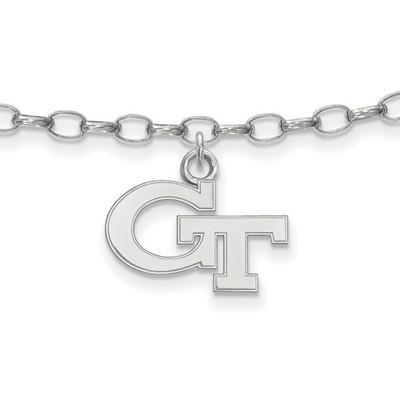 Georgia Tech Sterling Silver Ankle Bracelet