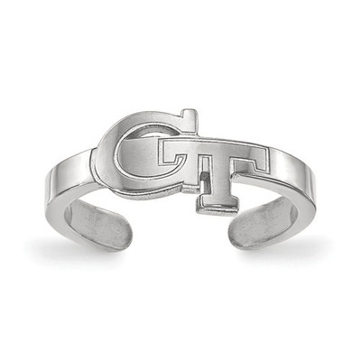 Georgia Tech Sterling Silver Toe Ring