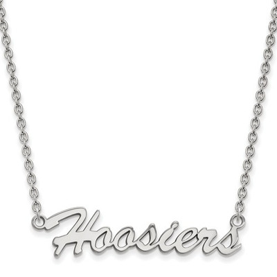 Indiana Hoosiers Script Logo Sterling Silver Necklace