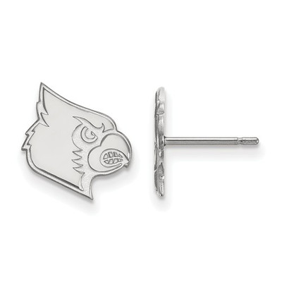 Louisville Cardinals Mascot Sterling Silver Post Earrings