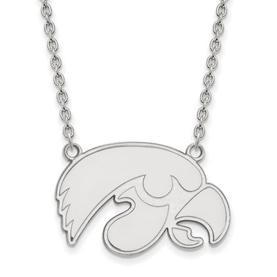 Iowa Hawkeyes Sterling Silver Pendant Necklace