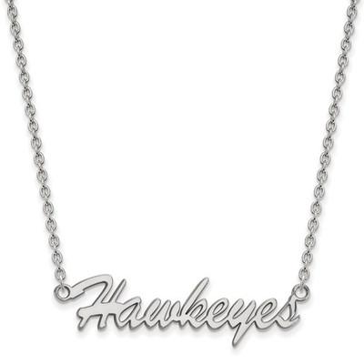 Iowa Hawkeyes Script Sterling Silver Necklace