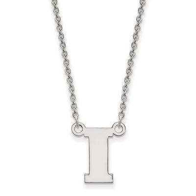 Iowa Hawkeyes I Logo Sterling Silver Necklace