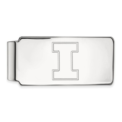 Illinois Fighting Illini I Logo Sterling Silver Money Clip