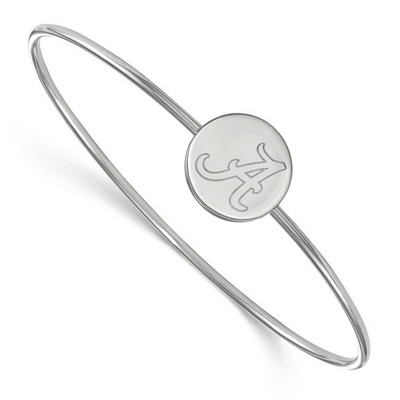 Alabama A Crimson Tide Sterling Silver Bangle Bracelet