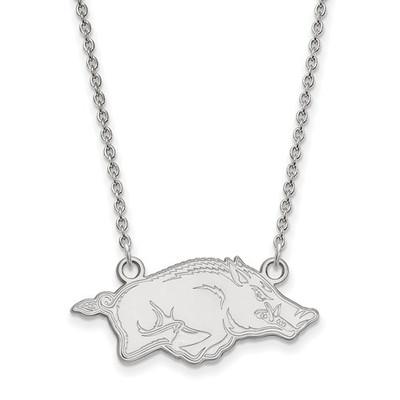 Arkansas Razorbacks Sterling Silver Pendant Necklace
